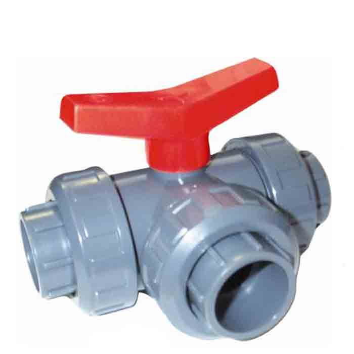BVL-T Range - PVC Plastic Three Way Ball Valve