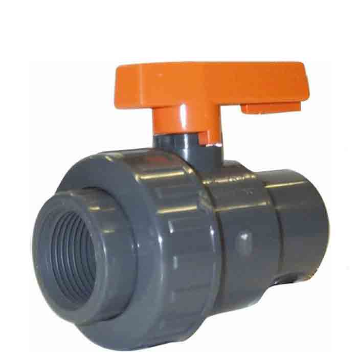 BVS Range - PVC Plastic Single Union Ball Valve