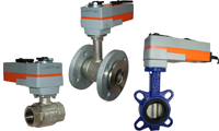 Spring Return Electrically Actuated Valves