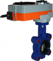 JV9412E-SR - Spring Return Electrically Actuated Butterfly Valve